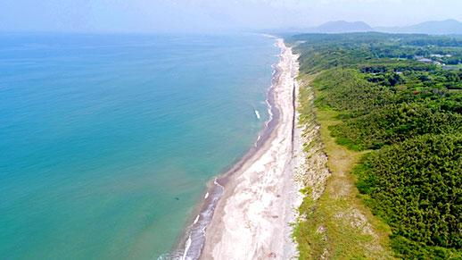 上空から撮影した吹上浜